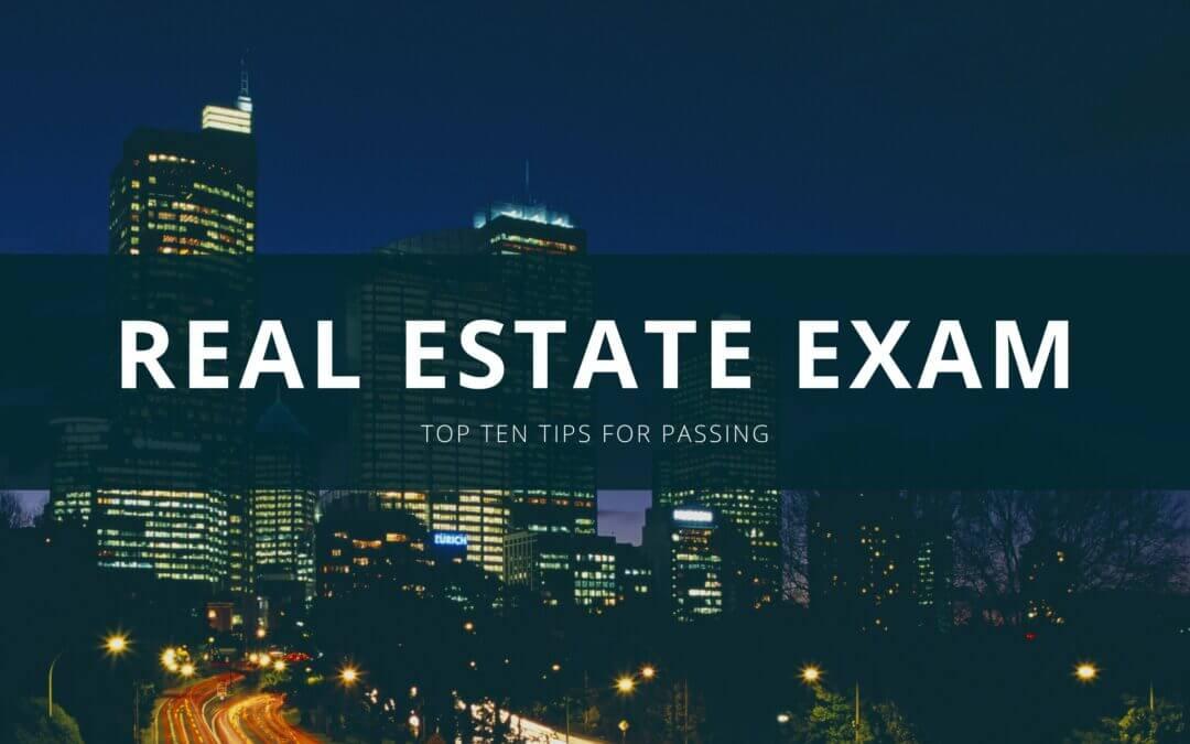 通过房地产执照考试的十大建议